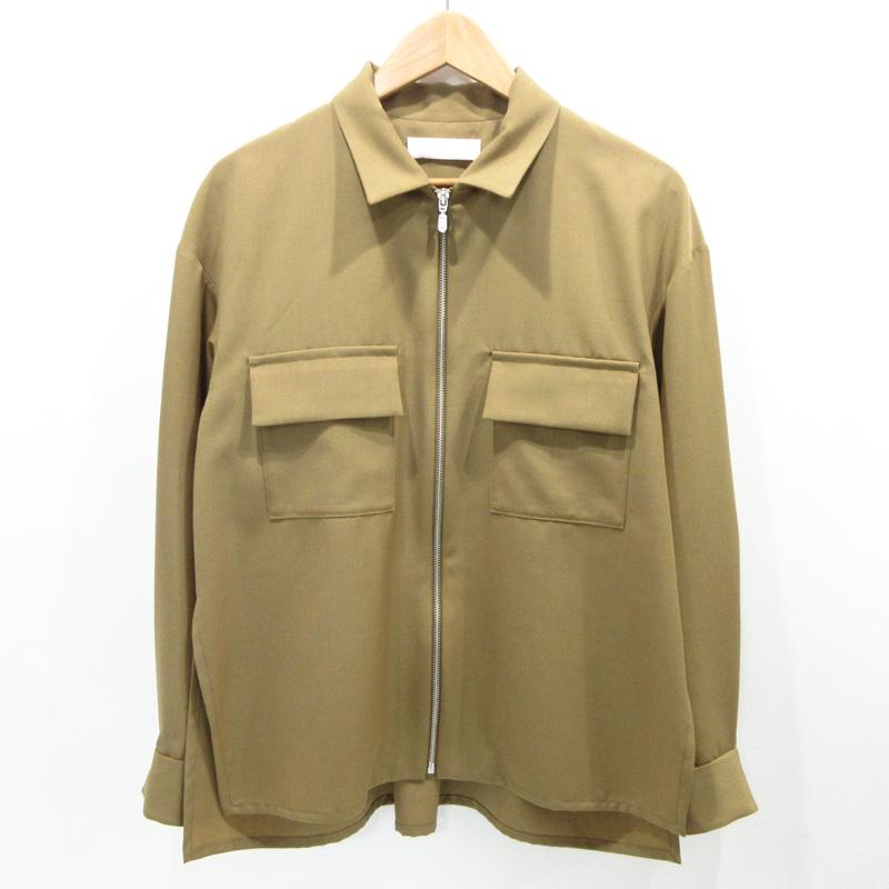 【中古】ETHOSENS|エトセンス ジップ シャツ 長袖 サイズ:1 カラー:ベージュ【f104】
