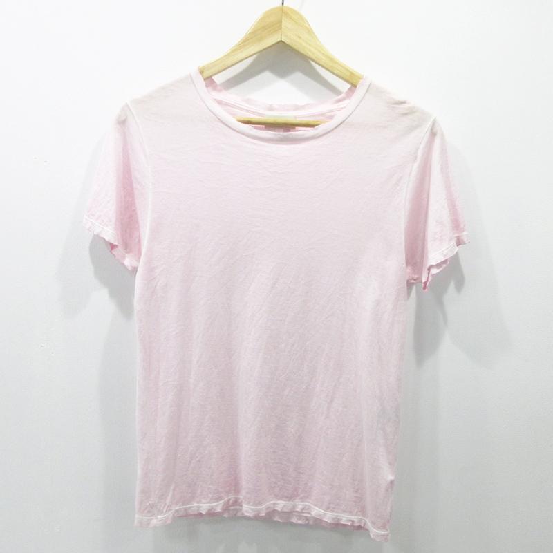 【中古】Saint Laurent サンローラン ダメージ 加工 17SS Tシャツ 半袖 サイズ:S カラー:ピンク【f108】