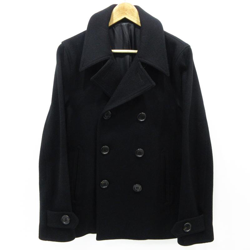 【期間限定】ポイント20倍【中古】WACKO MARIA|ワコマリア P-COAT コート サイズ:M カラー:ブラック / ルード【f096】