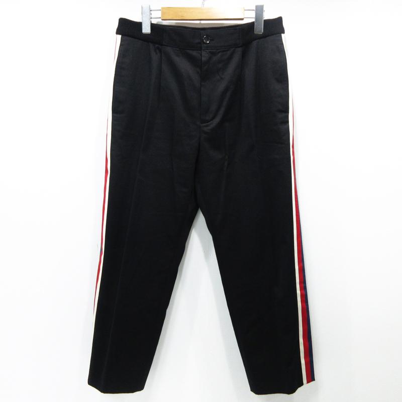 【中古】GUCCI|グッチ 18SS / サイドラインスラックスパンツ / PANTS / 469607 / Z3732 サイズ:48 カラー:ブラック【f135】