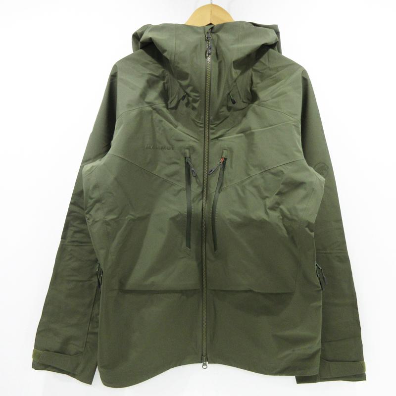 【中古】MAMMUT|マムート Teton HS Hooded Jacket テトンハードシェルフーデッドジャケット 1010-27120 サイズ:XL カラー:イグアナ / アウトドア【f092】