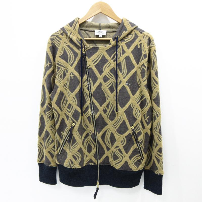 【中古】Vivienne Westwood MAN|ヴィヴィアンウエストウッドマン ジップパーカー 長袖 サイズ:48 カラー:- / インポート【f102】