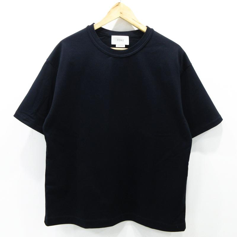 【中古】YOKE ヨーク INSIDE OUT T-SHIRT インサイドアウトTシャツ YK19SS0031CS サイズ:S カラー:ネイビー【f104】