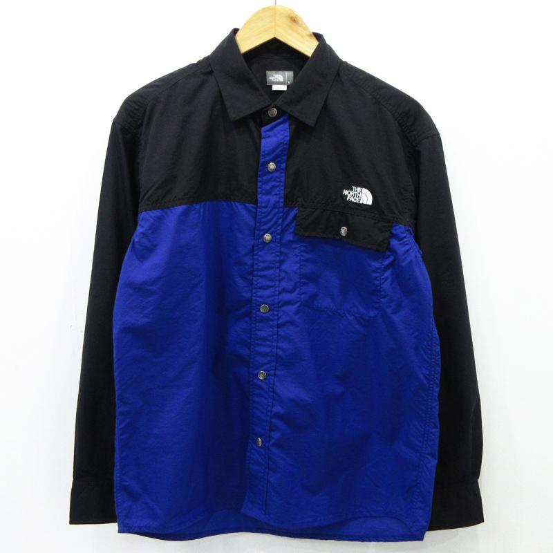 【中古】THE NORTH FACE ザ・ノース・フェイス ロングスリーブヌプシシャツ L/S Nuptse Shirt NR11961 サイズ:M カラー:アズティックブルー / アウトドア【f100】
