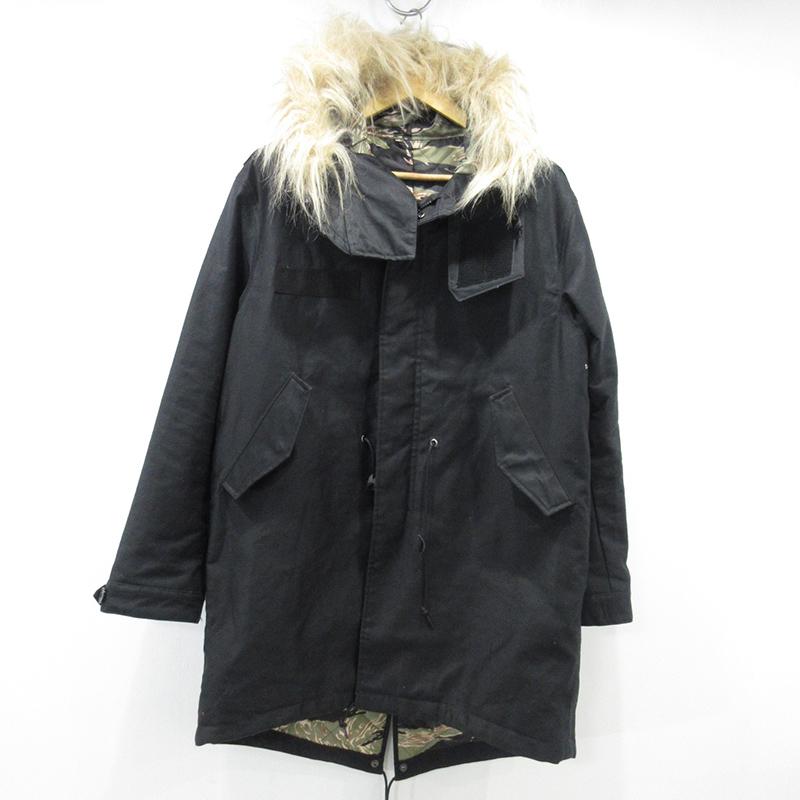 【中古】SOPHNET.|ソフネット モッズコート ジャケット サイズ:M カラー:ブラック / ストリート【f095】