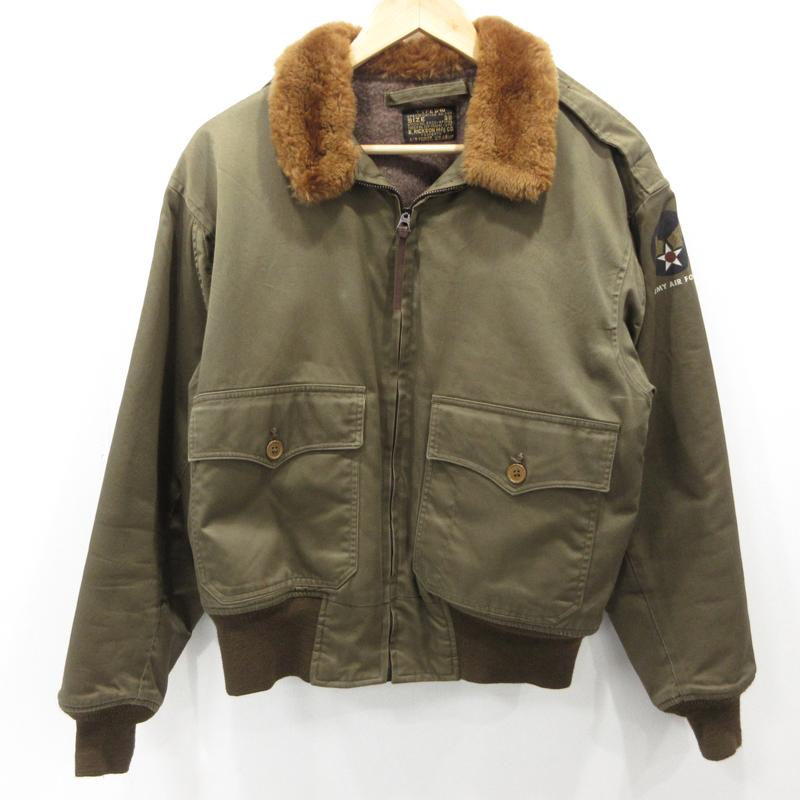 【中古】BUZZ RICKSONS バズリクソンズ フライトジャケット サイズ:38 カラー:カーキ / アメカジ【f093】