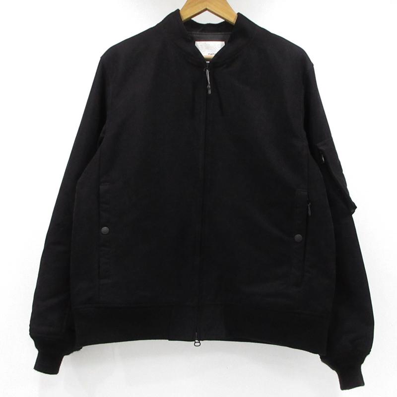 【中古】nanamica|ナナミカ Mole Skin NA-1 Jacket フライトジャケット 17AW サイズ:M カラー:ブラック / アウトドア【f092】