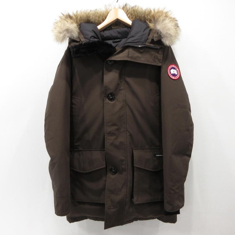 【中古】CANADA GOOSE|カナダグース ジャスパー パーカー ダウンジャケット サイズ:M カラー:カーキ【f108】