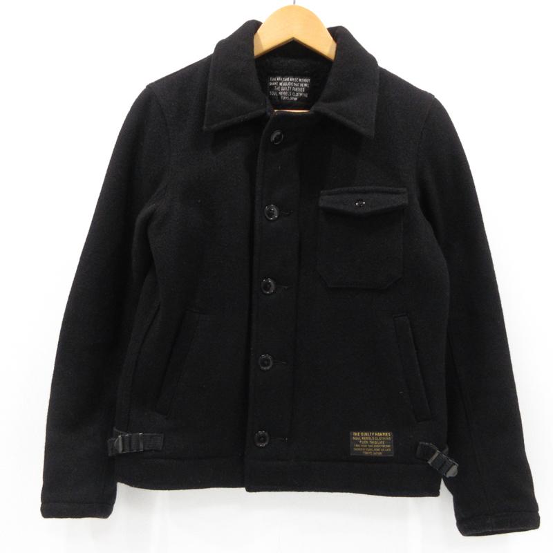 【期間限定】ポイント20倍【中古】WACKO MARIA ワコマリア ウールジャケット サイズ:S カラー:ブラック / ルード【f096】
