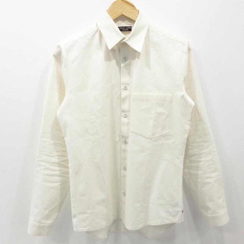 【中古】FRANK LEDER|フランクリーダー ベッドリネンシャツ 長袖 サイズ:XS カラー:ホワイト系 / インポート【f102】