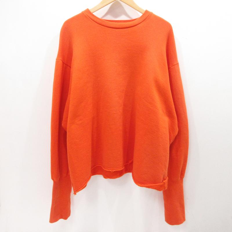【中古】CHRISTIAN DADA|クリスチャンダダ Oversized Bomber Sweatshirt スウェット トレーナー サイズ:50 カラー:オレンジ【f104】