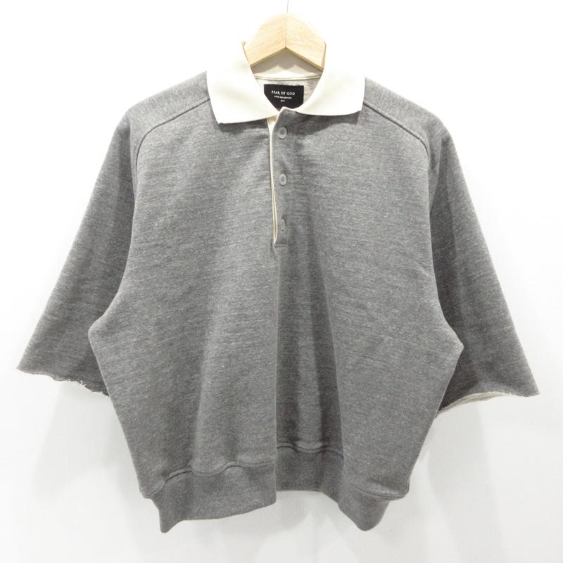 【中古】FEAR OF GOD|フィアオブゴッド ポロシャツ 半袖 サイズ:S カラー:グレー【f108】
