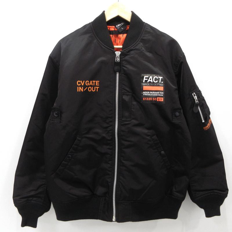 【中古】FACT.|ファクト フライトジャケット MA-1 19AW サイズ:L カラー:ブラック / ストリート【f095】