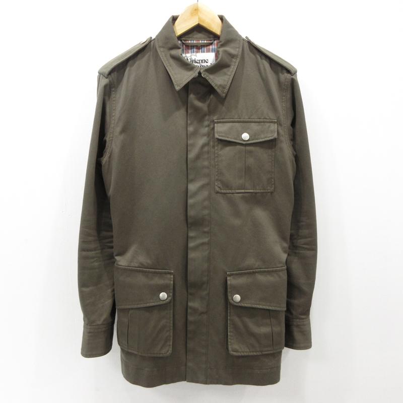 【中古】Vivienne Westwood MAN|ヴィヴィアンウエストウッドマン ジャケット コート サイズ:44 カラー:カーキ / インポート【f094】
