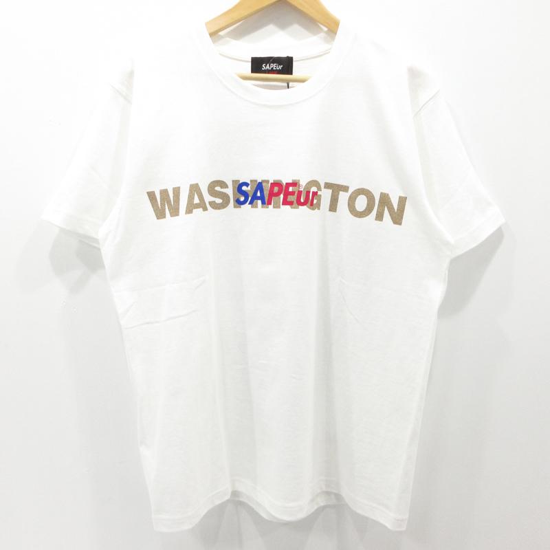 【中古】A Elegantes SAPEur|サプール ロッドマン グラフィックTシャツ 半袖 サイズ:L カラー:ホワイト / ストリート【f103】
