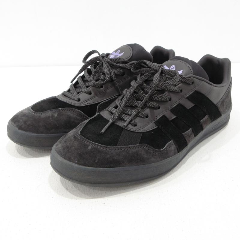 【中古】adidas×MARK GONZALES|アディダス×マーク・ゴンザレス ALOHA SUPER スニーカー EG2784 ブラック サイズ:27.5【f126】