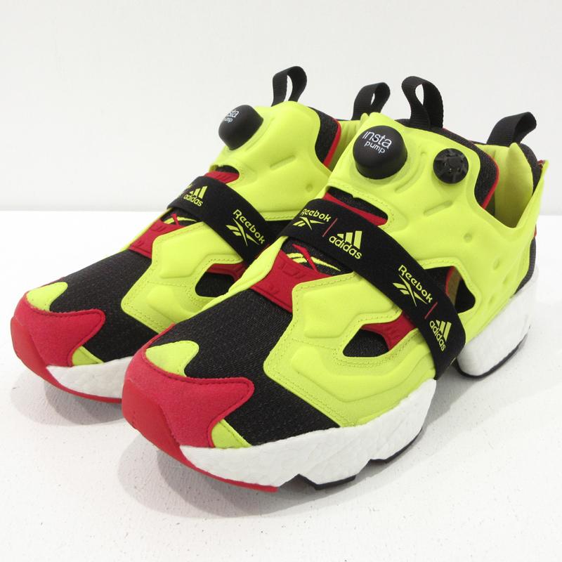 【中古】Reebo×adidas|リーボック×アディダス InstaPump Fury Boost Shoes インスタポンプフューリーブースト スニーカー FW5305 サイズ:25【f126】