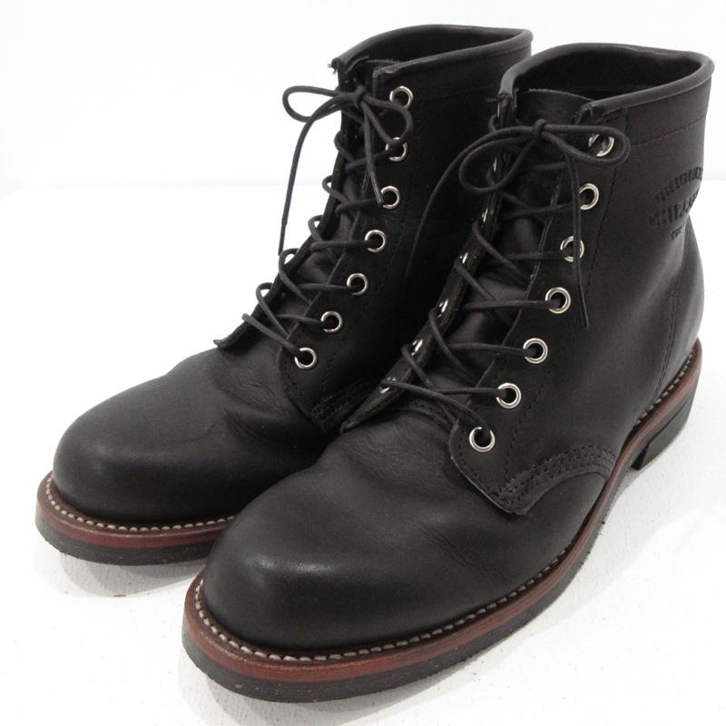 【中古】CHIPPEWA|チペワ 6inch UTILITY BOOTS ユーティリティブーツ 1901M24 ブラック サイズ:25【f127】