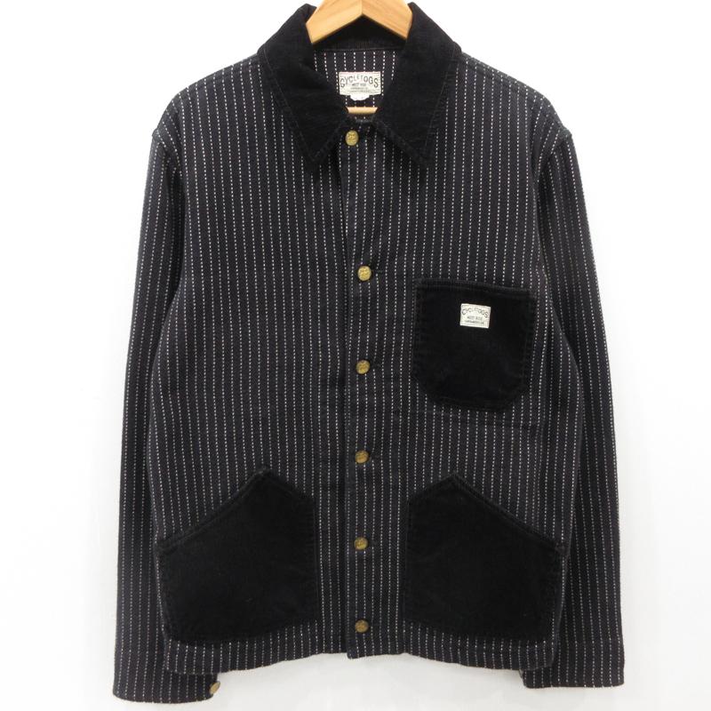 【中古】WESTRIDE ウエストライド ウォバッシュ カバーオールジャケット ブラック サイズ:40 / アメカジ【f093】