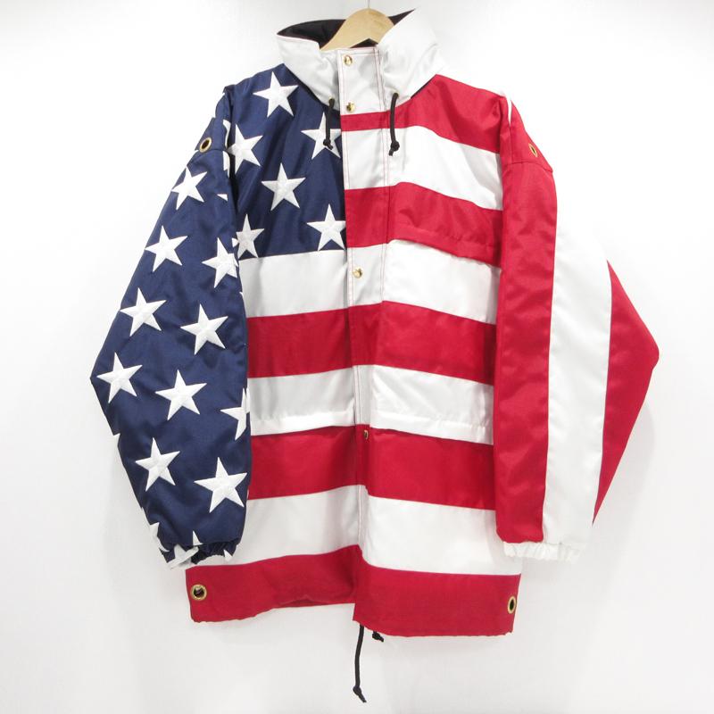 【期間限定】ポイント20倍【中古】VETEMENTS|ヴェトモン 星条旗 フラッグ ジャケット コート Flag Jacket 19SS サイズ:S カラー:-【f108】