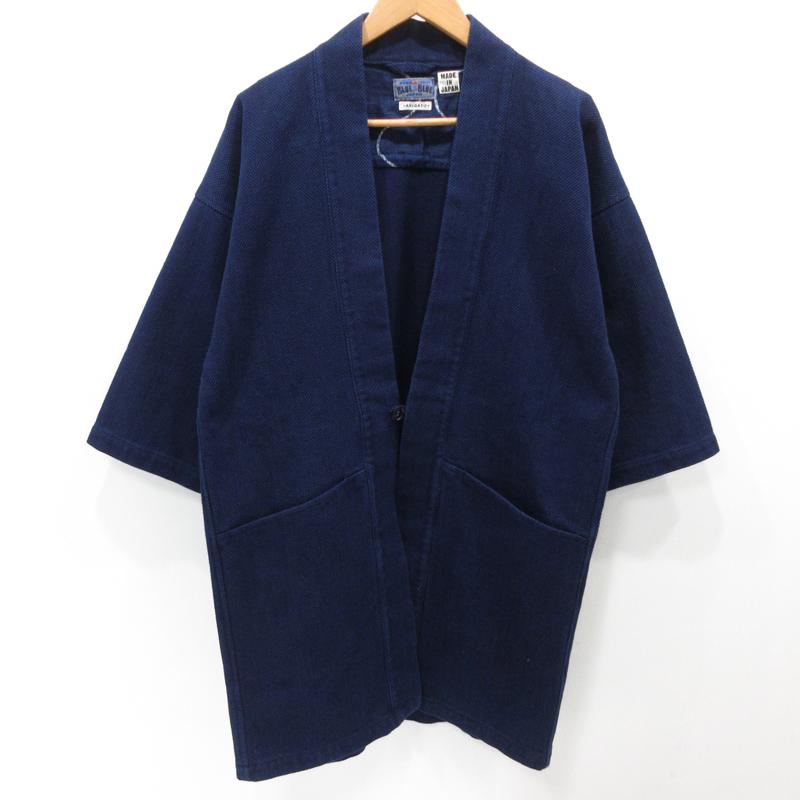 【期間限定】ポイント20倍【中古】BLUE BLUE|ブルーブルー Sashiko Kimono Jacket ジャケット サイズ:2 カラー:インディゴ / アメカジ【f093】