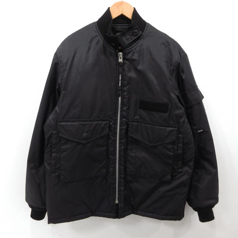 【中古】COOTIE クーティ WEP JACKET ボンバー ジャケット フライトジャケット 17AW サイズ:L カラー:ブラック / ルード【f096】