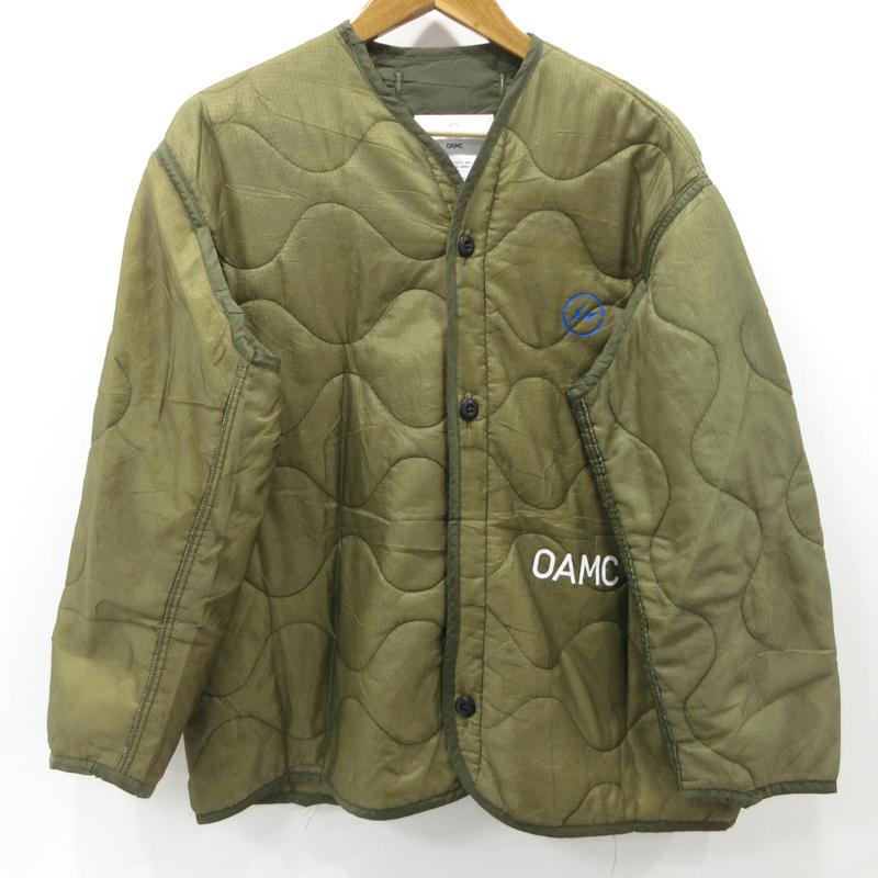 【中古】Fragment Design×OAMC フラグメントデザイン PEACEMAKER 中綿ジャケット サイズ:M カラー:カーキ / ストリート【f095】