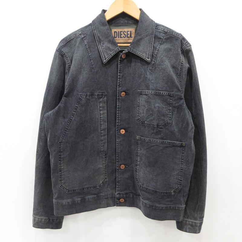 【中古】DIESEL ディーゼル デニムジャケット ブラック サイズ:M / インポート【f094】