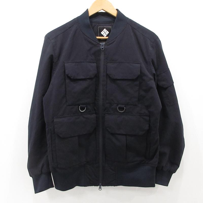 【中古】Columbia|コロンビア パストゥクリークジャケット フライトジャケット ネイビー サイズ:M / アウトドア【f092】