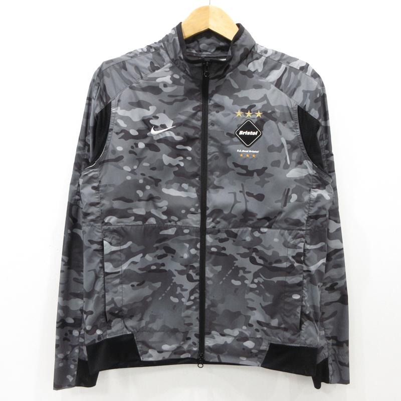 【中古】NIKE × F.C.R.B./F.C.Real Bristol ナイキ × エフシーレアルブリストル Revolution Camo Jacket カモ柄 ナイロンジャケット 716127 サイズ:M / ストリート【f095】