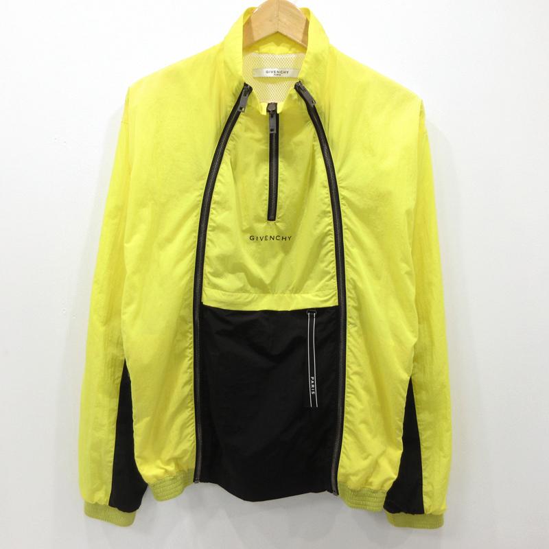 【中古】GIVENCHY|ジバンシィ Colour Block Multi-zip Jacket ジャケット イエロー サイズ:44【f135】