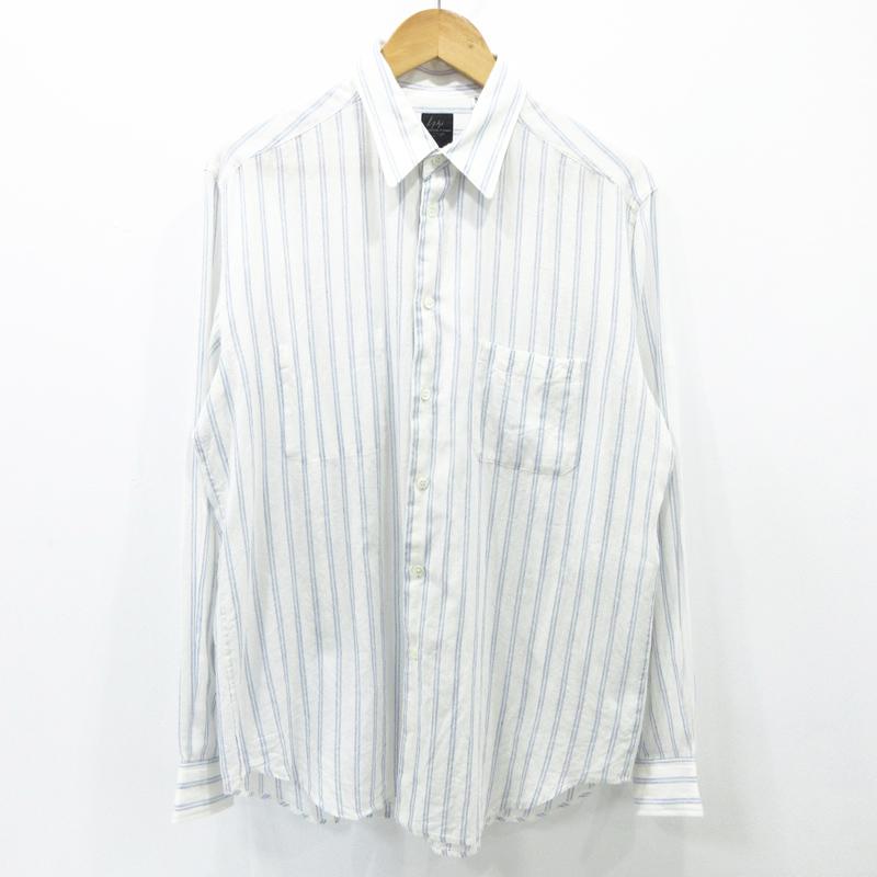 【中古】YOHJI YAMAMOTO|ヨウジヤマモト ストライプ 長袖 シャツ サイズ:3【f108】