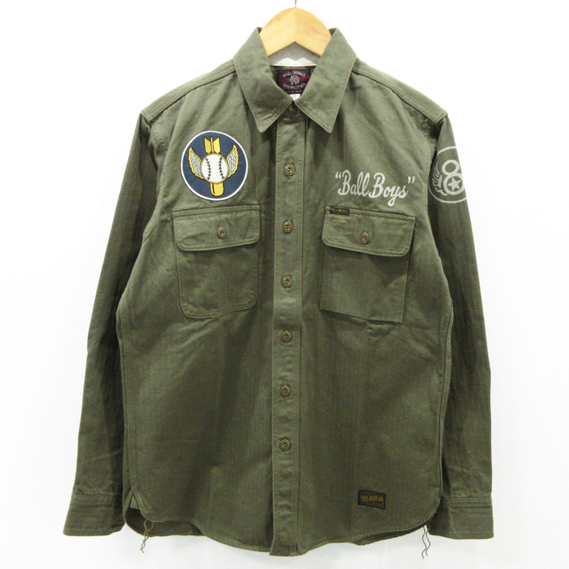 【中古】TOYS McCOY|トイズマッコイ MILITARY HERRINGBONE DOCKER SHIRT 8TH AIR FORCE