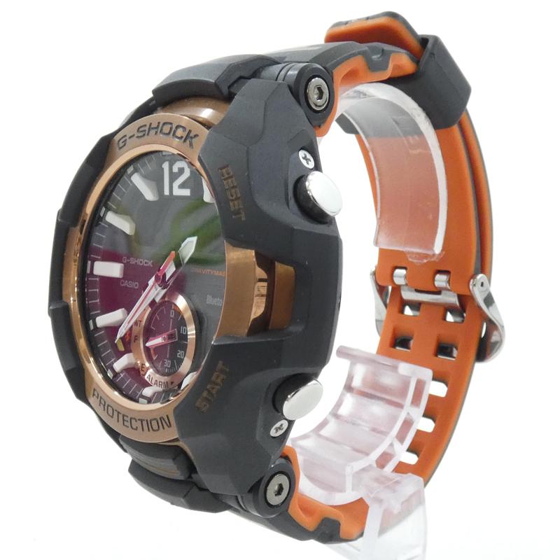 202103pd 贈答 中古 CASIO カシオ 腕時計 G-SHOCK GRAVITYMASTER GR-B100-1A4ER Gショック 35%OFF f131 ブラック グラビティマスター