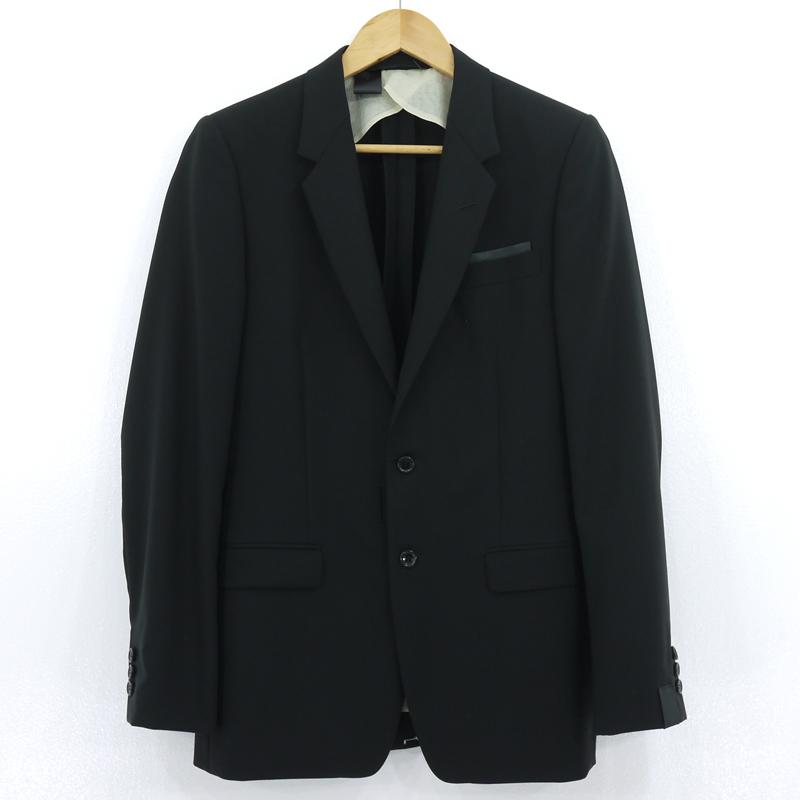 【中古】N.HOOLYWOOD エヌハリウッド コンパイルライン テーラードジャケット JK01-001-SS ブラック サイズ:40【f096】