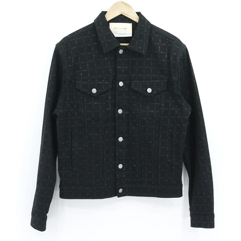 【中古】1017 ALYX 9SM|アリクス デニムジャケット ブラック サイズ:L【f108】