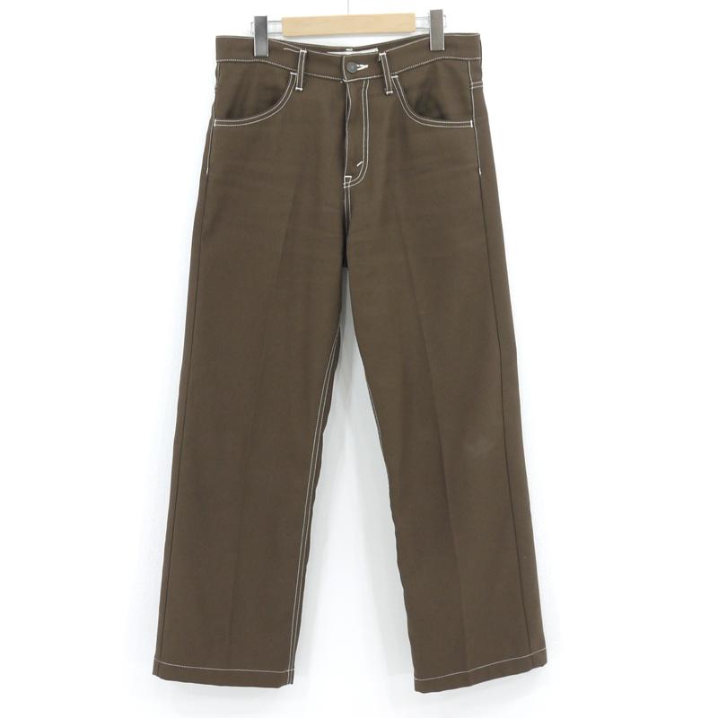 【中古】DAIRIKU|ダイリク Flasher Pressed Pants/フラッシャー プレス パンツ 20SS B-3 ブラウン サイズ:29【f107】