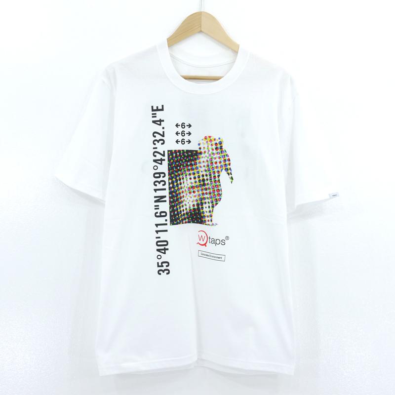 【中古】WTAPS|ダブルタップス DCLXVI ロゴ プリント 半袖Tシャツ ホワイト サイズ:02【f103】
