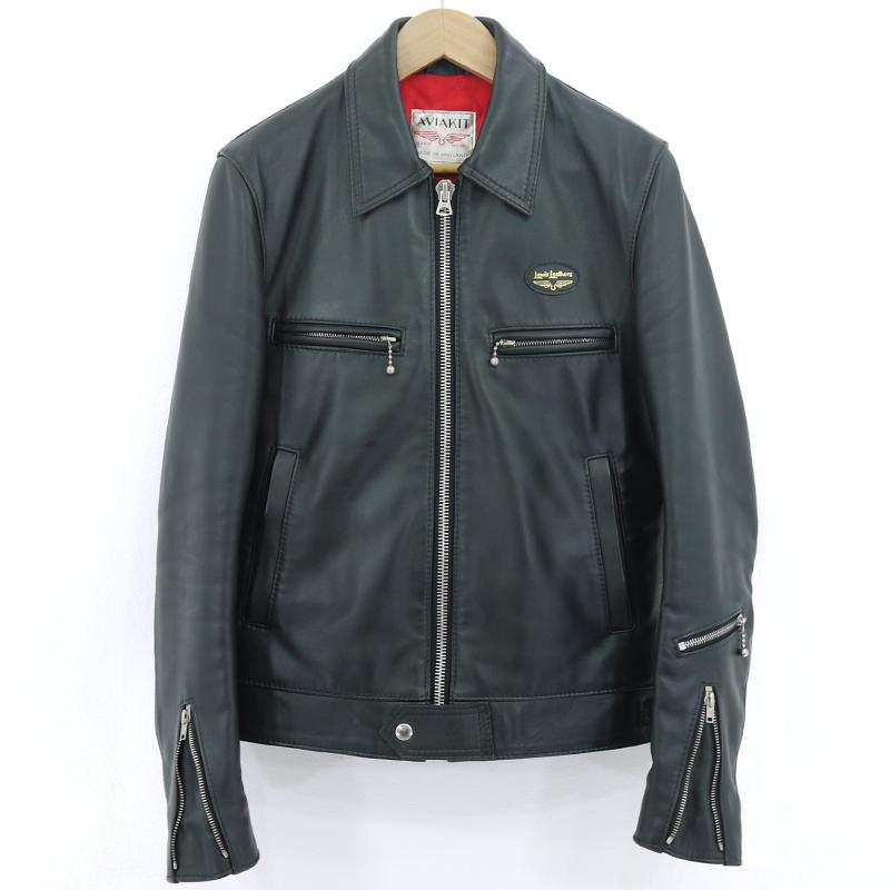 【中古】Lewis Leathers|ルイスレザー AVIAKIT レザージャケット ブラック サイズ:34【f093】