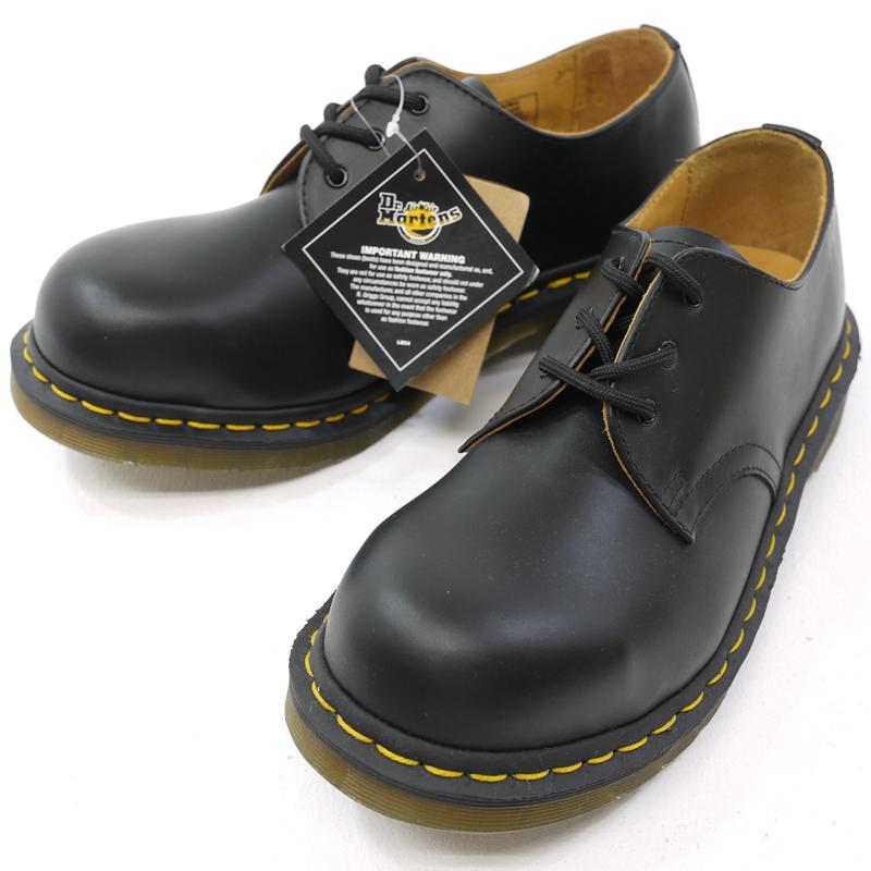 【中古】Dr.Martens ドクターマーチン 3EYE STEEL TOE SHOE 3ホール スチールトゥシューズ ブーツ 10111001 ブラック サイズ:EU39【f128】