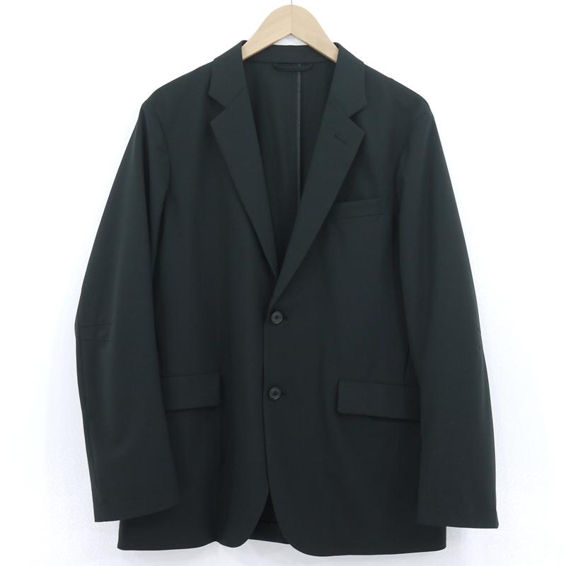 【中古】DESCENTE デサント セットアップ スーツ ジャケット パンツ 薄手 春夏 7762J201 ブラック サイズ:L【f100】