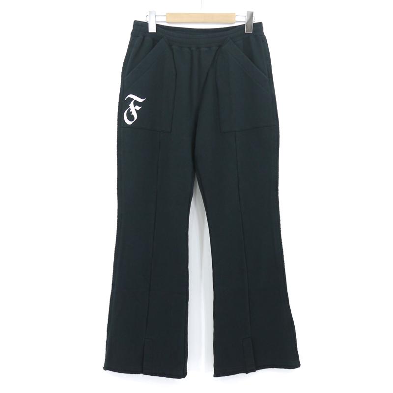 【中古】FACETASM|ファセッタズム CUT OFF PANTS/カットオフパンツ スウェットパンツ ブラック サイズ:4【f107】