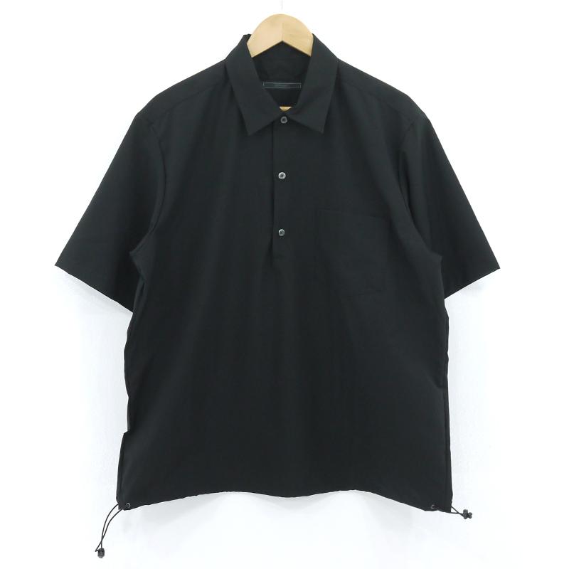 【中古】SOPHNET.|ソフネット S/S PULLOVER HEM CODE SHIRT プルオーバー半袖シャツ ブラック サイズ:L【f103】