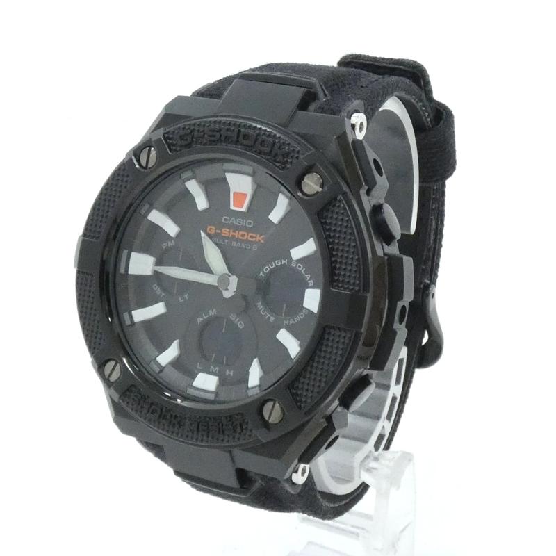 正規取扱店 202103pd 中古 CASIO 時間指定不可 カシオ 腕時計 G-SHOCK ブラック G-STEEL Gショック GST-W130BC-1AJF f131 電波ソーラー