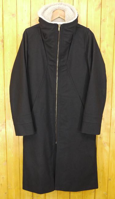 【中古】Rick Owens/リックオウエンス 襟ボアジップアップロングコート サイズ:XS カラー:ブラック