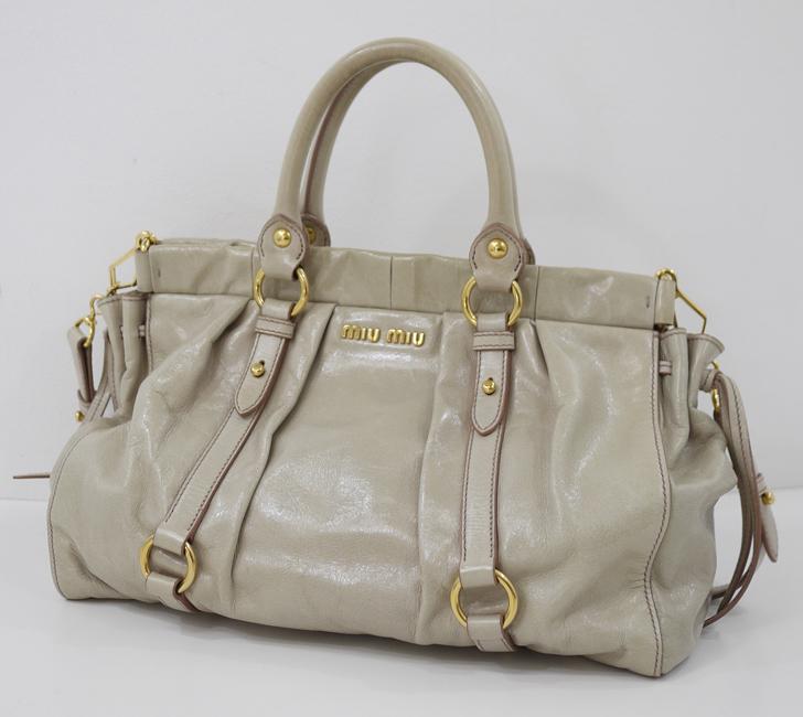 【中古】 MIU MIU/ミュウミュウ RT0383 VITELLO LUX 2wayハンドバッグ