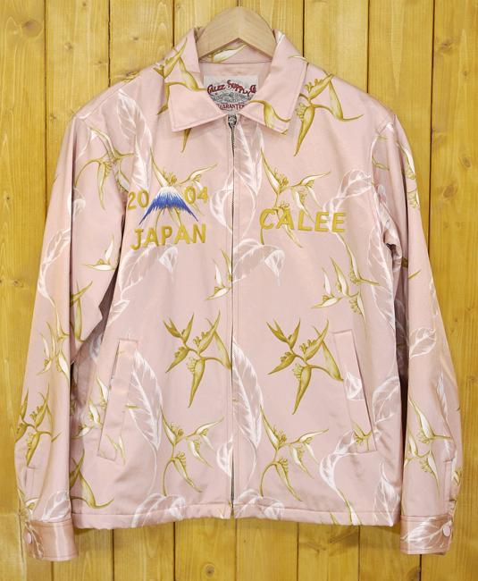 【期間限定】ポイント20倍【中古】CALEE/キャリー ALLOVER PATTERN SOUVENIR JACKET/スカジャン サイズ:M カラー:ピンク