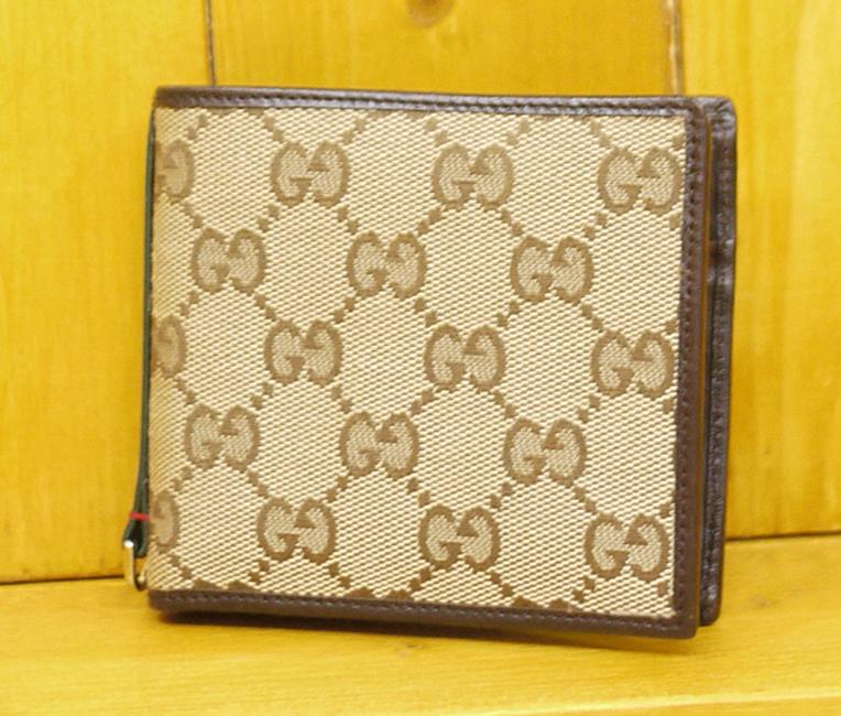 【中古】GUCCI/グッチ 131927 GGキャンバス 二つ折り財布