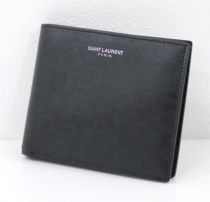 【中古】Saint Laurent/サンローラン 315865 - ヒョウ柄クラシック二つ折り財布
