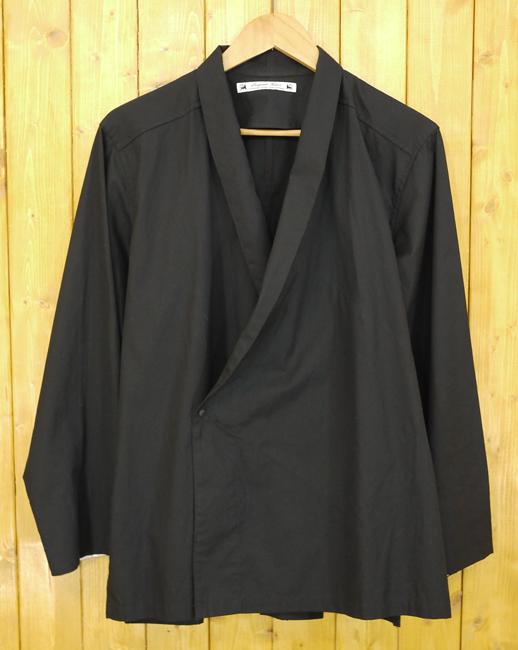 【中古】Sasquatchfabrix./サスクワァッチファブリックス JINBEI L/S SHIRT ジンベイシャツ サイズ:M カラー:ブラック